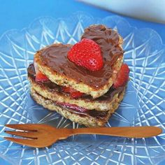 Toast with nutella and strawberry