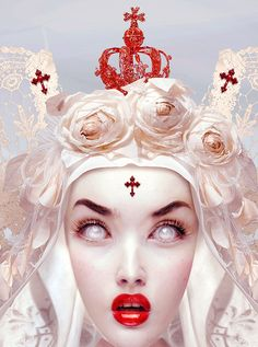 Natalie Shau is mixed media artist and photographer of Russian and Kazakhstan descent based in Lithuania (Vilnius). She found interest in fashion and portrait photography as well as digital illustration and photo art. Trevor Brown, Drawing Competition, La Madone, Mark Ryden, Audrey Kawasaki, Gothic Dolls, Digital Portrait, Digital Art, Gothic Art