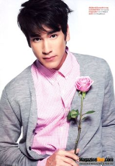 Nadech Kugimiya in Minto♣: June 2013 Pretty Face, Pretty In Pink, Asian Men, Pale Pink, Music Artists, Actors & Actresses, Drama, Handsome, Guys