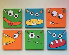Monster Art Kinder Monster Art Kinder Monster Wall Art Boys Room Decor Monster N . - Monster Art Kinder Monster Art Kinder Monster Wall Art Boys Room Decor Monster N …, - Monster Room, Monster Nursery, Monster Art, Boy Decor, Boys Room Decor, Bedroom Boys, Room Kids, Boy Room, Painting For Kids