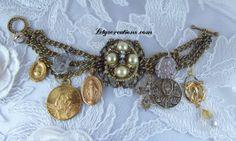 Vintage Catholic Virgin Mary, Jesus, Saints Religious Medals Charm Bracelet www.letyscreations.com #catholicbracelet #catholicjewelry #religiousbracelet #vintagebracelet #vintagemedals #virginmarybracelet #patronsaintsmedals #saintsbracelet #pulseracatolica #pulseraantigua #medallascatolicas #pulseravirgenmaria #pulserasantos