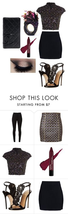 """Untitled #539"" by casschrisdyck ❤ liked on Polyvore featuring Victoria Beckham, Balmain, River Island, Dsquared2, A.L.C. and Chanel"