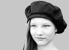 classic French Beret in black moleskin cotton by zuthats.shop