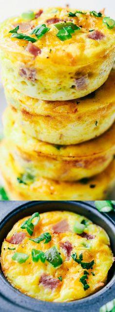 These Denver Omelet Breakfast Muffins from The Recipe Critic are such a great breakfast for making ahead or on the go! They are loaded with peppers, onions, ham, and ooey, gooey cheese!