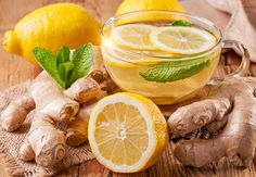 How to Make Cleansing Ginger Lemon Tea With Many Health Benefits. Detox Ginger Lemon Tea (makes 4 cups – 1 L) 2 inches cm) ginger root 4 cups L) filtered water 2 tbsp ml) organic lemon juice tsp ml) whole stevia leaf or honey Ginger Lemon Tea, Ginger Juice, Green Tea Lemonade, Weight Loss Herbs, Ayurvedic Herbs, Fat Burning Detox Drinks, Lose Weight Naturally, Turmeric, Real Food Recipes