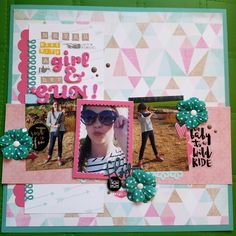 A stash buster layout using lots of old #heidiswapp products