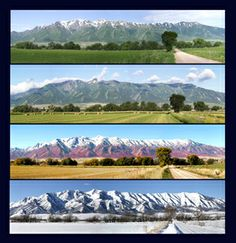 Wellsville mountains  border western side of Cache Valley Utah.  All four seasons are equally different and beautiful.