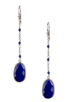 Lapis Dangle Earrings by Candela on @HauteLook