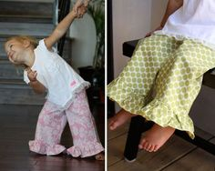 Toddler Ruffle Pants Tutorial.. been looking for this everywhere!