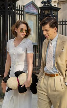 Jesse Eisenberg and Kristen Stewart as Bobby & Vonnie in Café Society  (2016)