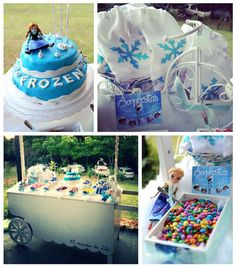 Frozen Inspired Candy Cart Dessert Bar via Kara's Party Ideas