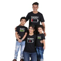 Family Matching Outfits Father Mother Daughter Son Clothes Look T-Shirt Mommy And Me Dresses, Mom Dress, Shirt Dress, Daddy And Son, Father And Son, Mother Son, Baby Dirndl, Baby Kids, Baby Boy