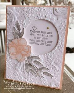 Wickedly Wonderful Creations: It's a SNOW DAY! Handmade Birthday Cards, Greeting Cards Handmade, Tarjetas Diy, Embossed Cards, Stamping Up Cards, Get Well Cards, Sympathy Cards, Flower Cards, Creative Cards