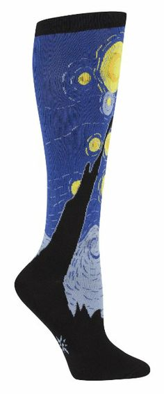 Amazon.com: Sock It To Me Starry Night Knee High Sock (Blue) Size 5-10: Clothing