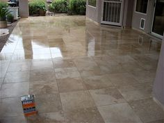 Qualities, types and applying methods of travertine sealers are on the Travertine Floors, Spring Cleaning, Natural Stones, Tile Floor, Tiles, Exterior, Flooring, House, Home Decor