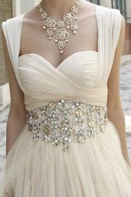cream + bling = gorgeous!