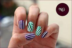 NailGlaze : The Techniques Challenge - #6 Stripes
