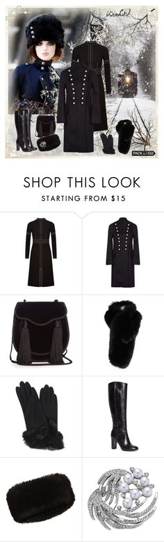 """""""Pack and Go: Winter Getaway"""" by dezaval ❤ liked on Polyvore featuring Burberry, Yves Saint Laurent, Lilly e Violetta, Carolina Amato, Brooks Brothers, Accessorize, Nina and Packandgo"""