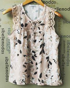 """ถูกใจ 320 คน, ความคิดเห็น 4 รายการ - Sibelle Modas (@sibellemodas) บน Instagram: """"Blusa crepe print lace R$139,90 Tam P(38) M(40) G(42) ▶️Compras pelo site…"""""""