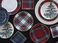 tartan dishes