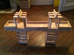 Le grand pont Plank Challenge, Wood Blocks, Picnic Table, Lego, Construction, The Originals, Building, Planks, Projects