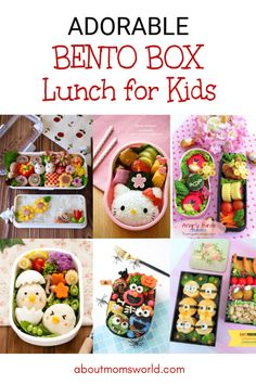 Adorable Bento Box Ideas For Kids - About Mom's World Bento Box Lunch For Kids, Bento Lunchbox, Lunch Box, Cute Bento, I Am Amazing, Kids Reading, Mom Blogs, Food Preparation, School Lunches