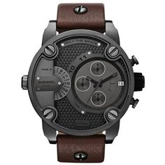 This Watch is so Cool Looking. I've Got to Get One for One of the Men in My Life ~ Diesel SBA Only The Brave Brown Dial... for only $185.00
