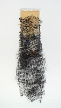 Sequiriyas x birdnetting & handmade paper by Jennifer Davies Textile Texture, Texture Art, Textiles, Textile Artists, Gravure, Fabric Art, Art Techniques, Installation Art, Mixed Media Art