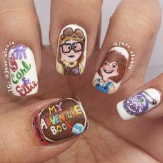 just_alexiz up's carl and ellie #nail #nails #nailart