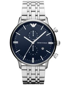 Emporio Armani Men's Chronograph Gianni Stainless Steel Bracelet Watch 43mm AR1648