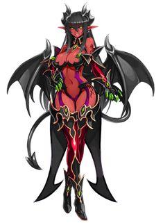 Demon 'recolor' – Monster Girl – Best Art images in 2019 Dark Fantasy Art, Fantasy Women, Fantasy Girl, Fantasy Artwork, Fantasy Images, Demon Art, Anime Demon, Girls Manga, Monster Girl Encyclopedia