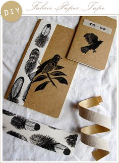 idea for making your own fabric tape! @ http://annekata.blogspot.com/2010/05/fabric-paper-tape-little-tutorial.html