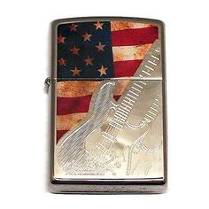 Fender #zippo lighter #chrome #etched stratocaster american flag made in the usa,  View more on the LINK: http://www.zeppy.io/product/gb/2/361417014407/