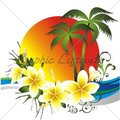 I like this without the sun, infact I think I've put another like this up, maybe the same front image actually.  i like the plumeria's and the swirl with the palm tree.