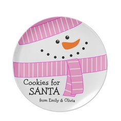 Shop Happy Girl Snowman Cookies for Santa Plate created by kat_parrella. Christmas Gift Exchange Games, Family Christmas Gifts, Christmas Plates, Handmade Christmas, Christmas Crafts, Christmas Ideas, Christmas 2019, Holiday Ideas, Vintage Christmas