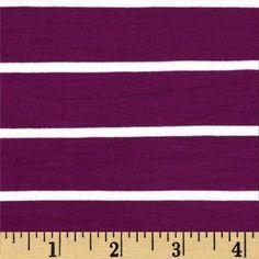 Stretch Bamboo Rayon Mariner Jersey Knit Stripe Plum/Off White Бамбуковая вискоза... и от за шо стоко денег, а?..