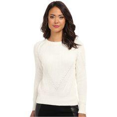 525 america Hi Rib Crop Crew Women's Sweater, Blue ($43) ❤ liked on Polyvore