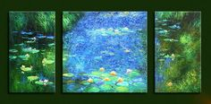 Water Lily Pond  oil painting