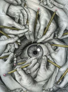 Art - pencil eye drawing