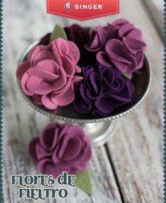 Flores de fieltro #Singer #Yolohice