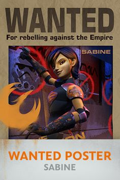 Star Wars Rebels: Sabine Wanted Poster