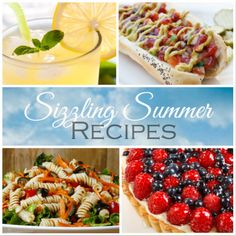 Delicious summer recipes - a collection of recipes inspired by the Hundred Foot Journey, including curry hot dogs, sparkling lemonade, raspberry and blueberry tarte, and pasta salad with chickpeas.