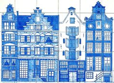 Netherlands - Delft Blue, with Postcrossing Stamp from Founders by 9teen87's Postcards, via Flickr