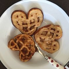 Pin for Later: XOXO: Stars Share the Love With Sweet Valentine's Day Snaps  Kourtney Kardashian celebrated Valentine's Day with heart-shaped waffles.