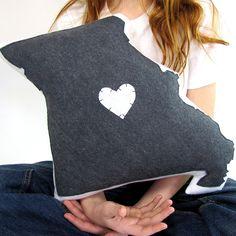 Customizable Missouri State Pillow. $58.50, via Etsy.