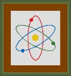 Atom Science Symbol Cross Stitch Pattern (7002)  PDF format https://www.etsy.com/shop/InstantCrossStitch