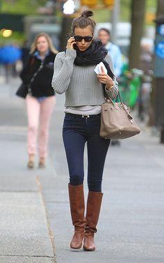 Irina Sheik street style