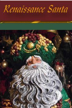Renaissance Santa close up head view
