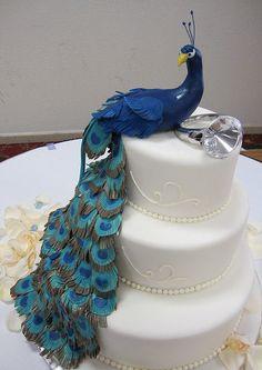 Peacock Wedding Cake | Masse's Pastries peacock wedding cake | Flickr - Photo Sharing!