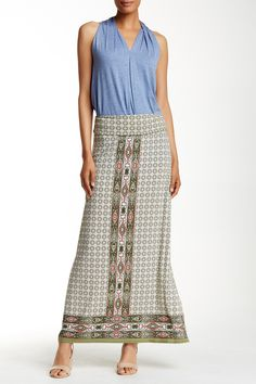 Max Studio - Placement Print Knit Maxi Skirt at Nordstrom Rack. Free Shipping on orders over $100.